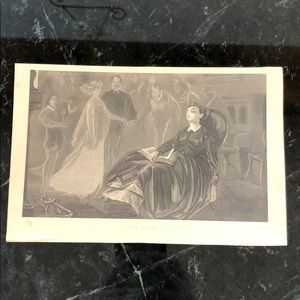"In the Firelight 5.5"" x 8.25"" Antique Engraving"